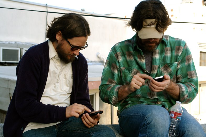 Matt and Terrence on phones