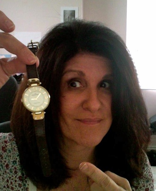 Keri with her watch