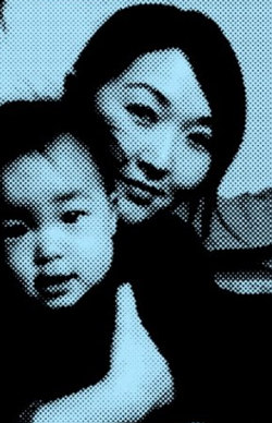 Grace Oh and son