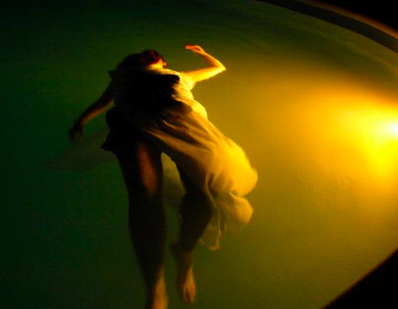Lori Fox in the pool