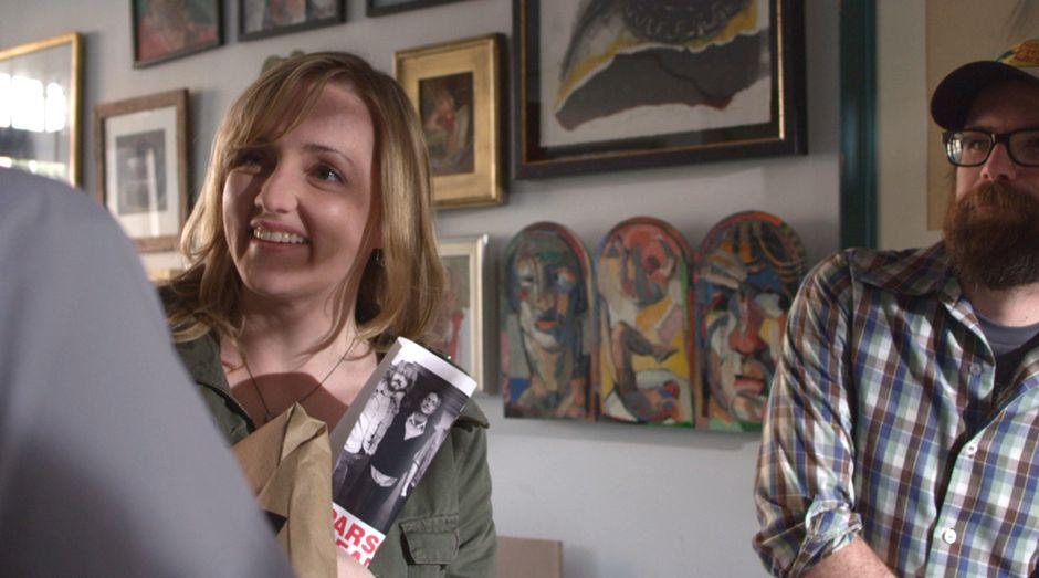 Michelle Steffes at the frameshop