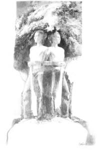 terce illustration from Praying the Hours in Ordinary Life, Denise Klitsie