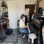 Composer Lauren Meares at work