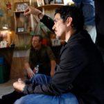 DP Abraham Martinez on the set of None