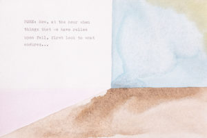 Artist Lori Fox imagines the Hour of None in watercolor