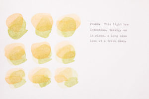 Artist Lori Fox imagines the Hour of Prime in watercolor